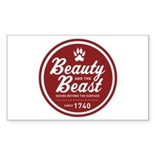 Beauty and the Beast Since 1740 Decal
