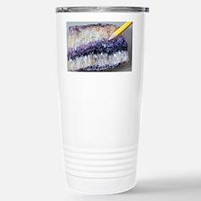 Fluorite crystals - Stainless Steel Travel Mug