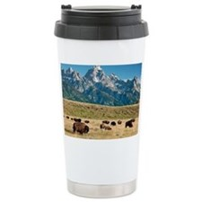 Herd of American Bison - Travel Mug