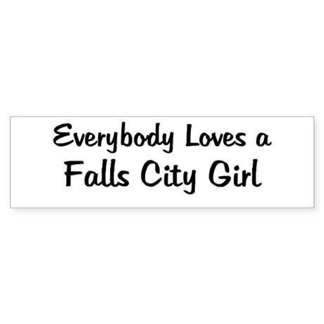 Falls City Girl Bumper Sticker