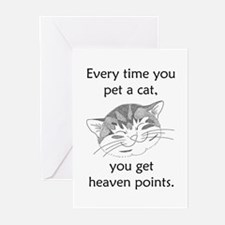 Cat Heaven Points Greeting Cards (Pk of 10)