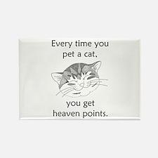 Cat Heaven Points Rectangle Magnet