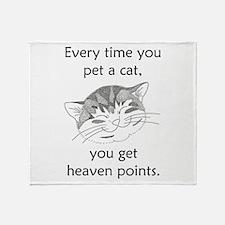 Cat Heaven Points Throw Blanket