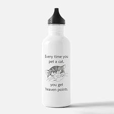Cat Heaven Points Water Bottle