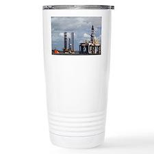 Oil drilling rigs, North Sea - Travel Mug
