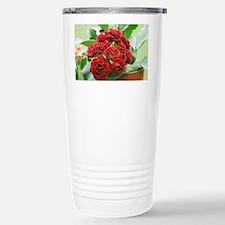 Primula auricula 'Crimson Glow' - Travel Mug