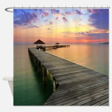 Beach Dock Shower Curtain