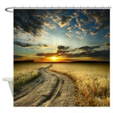 Western Sunset Road Shower Curtain