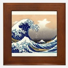 The Great Wave off Kanagawa Framed Tile