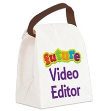 Future Video Editor Canvas Lunch Bag