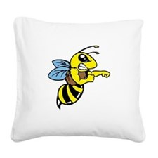 killer bee Square Canvas Pillow