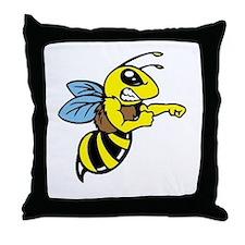 killer bee Throw Pillow