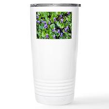 Viola odorata (Sweet Violets) - Travel Mug