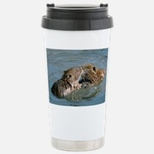 Young coypus playing - Stainless Steel Travel Mug