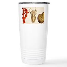 1750 coral squid - Travel Coffee Mug