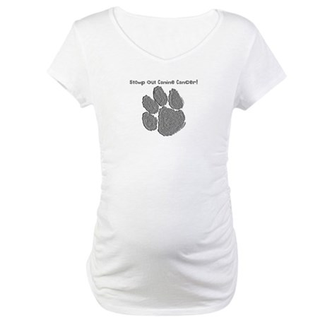 Stomp out Canine Cancer Maternity T-Shirt