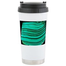 A polished slab of malachite - Travel Mug