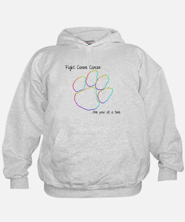 Canine Cancer Paw Hoodie