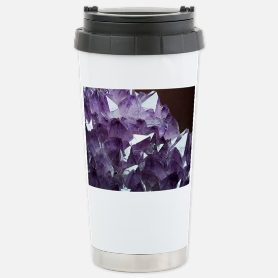 Amethyst crystals - Stainless Steel Travel Mug