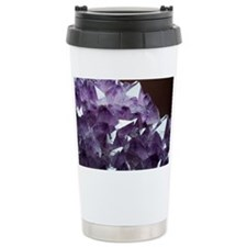 Amethyst crystals - Travel Coffee Mug