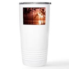 Beach at sunset - Travel Coffee Mug