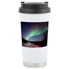 Aurora borealis in Alaska - Travel Mug
