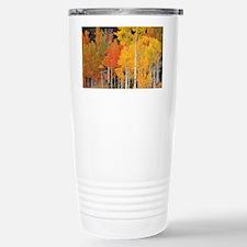 Autumn Aspen trees - Stainless Steel Travel Mug