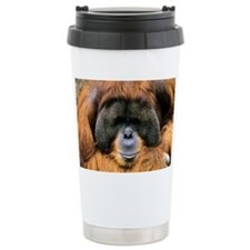 Bornean orangutan - Travel Coffee Mug