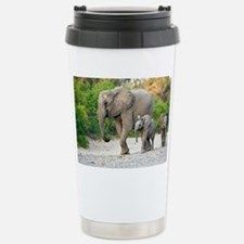 Desert-adapted elephants - Travel Mug