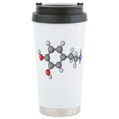 Dopamine neurotransmitter molecule - Stainless Ste