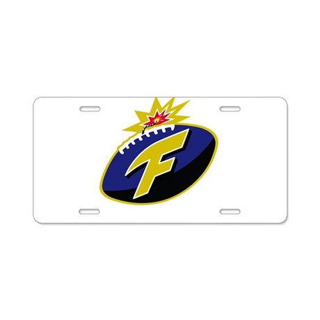 The F-Bomb Aluminum License Plate