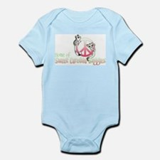 Southern Peace sign Sugar glider's Infant Bodysuit