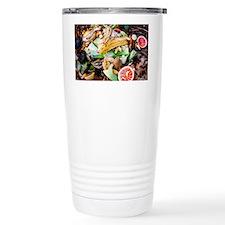 Food waste on compost heap - Travel Mug