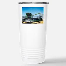 Harvesting wheat grain - Travel Mug