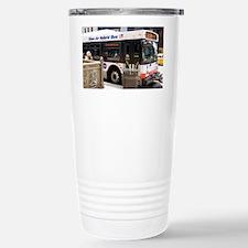 Hybrid bus in Chicago - Stainless Steel Travel Mug