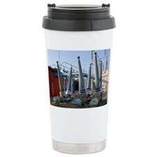Insulators at electricity substation - Travel Mug