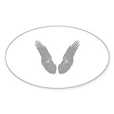 White Angel Wings Decal