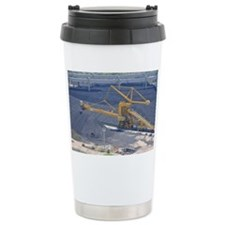 Power station - Coal storage site - Travel Mug