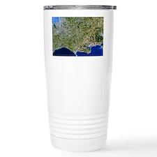 Satellite image of southwest England - Travel Mug