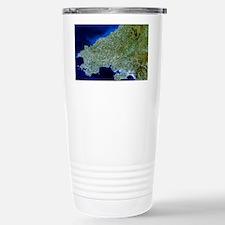 Satellite image of southwest Wales - Thermos Mug