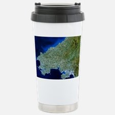 Satellite image of southwest Wales - Travel Mug