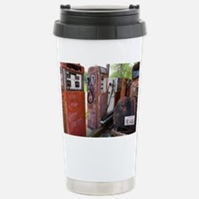 Rusty gas pumps and car - Travel Mug