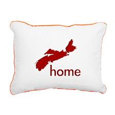 Red Rectangular Canvas Pillow