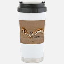 Springboks fighting - Stainless Steel Travel Mug