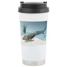 Tiktaalik prehistoric fish, artwork - Travel Mug