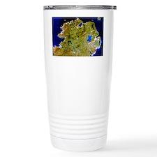 True-colour satellite image of Ulster, Ireland - C