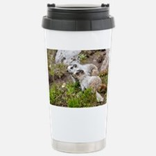 Two Hoary marmots - Travel Mug