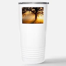 Oak tree at sunrise - Stainless Steel Travel Mug