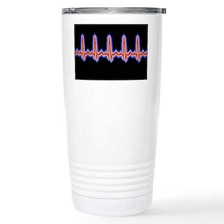 Heartbeat trace - Stainless Steel Travel Mug