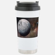 Moon and Earth, artwork - Travel Mug